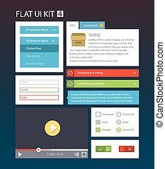 interface, plat, kit, 4, utilisateur