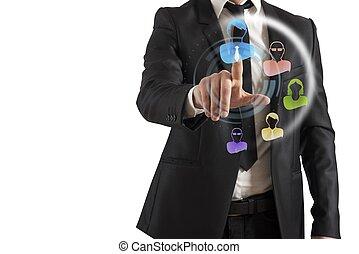 interface, réseau, social