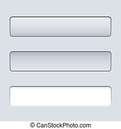 Interface rectangular button template with text field.
