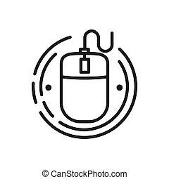 interface, souris, vecteur, conception, illustration