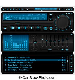 interface, speler, multimedia