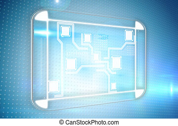 interface, technologie, samengestelde afbeelding