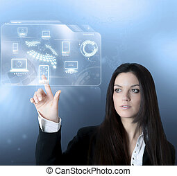interface, tecnologia, virtual
