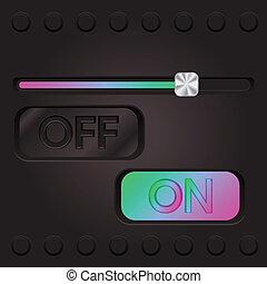 interface, toile, technologie, coloré, slifer