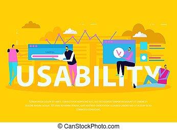 interface, usability, plat, fond