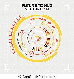interface., vecteur, sci, futuriste, utilisateur, illustration., fi