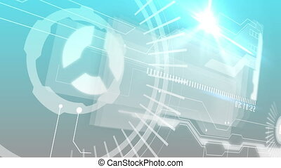 Interface with business words - Digital animation of Digital...
