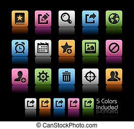 interfaz, comunicación, iconos