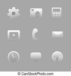 interfaz, conjunto, icono