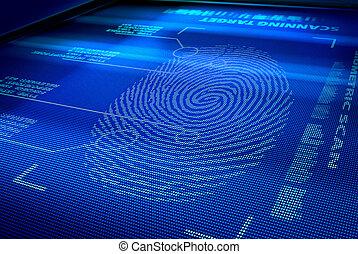 interfaz, identificación, sistema