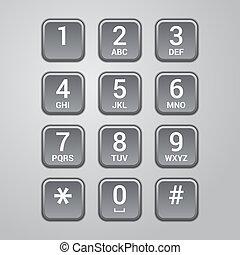 interfaz, usuario, telclado numérico, teléfono.