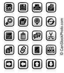 interfejs, ikony, internet