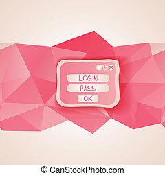interfejs, sieć, button., szablon, menu