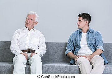 Intergenerational conflict between father and son