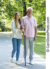 intergenerational, frau, verwandte, mann, zwischen