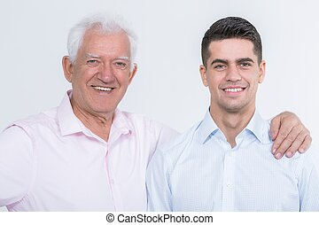 Intergenerational friendship between father and son