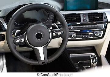 interieur, auto, detail