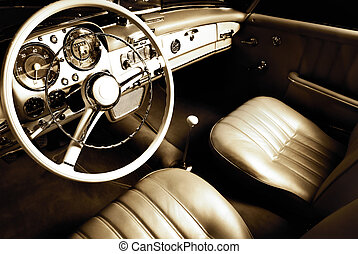 interieur, auto, luxe