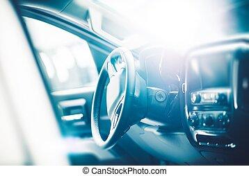 interieur, auto, moderne