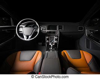 interieur, auto, moderne, sportende