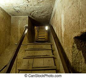 interieur, cairo, piramide, doorgang