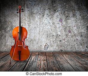 interieur, cello