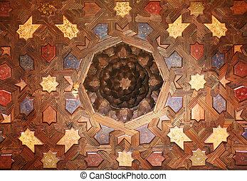 interieur, granada, paleis, alhambra, spanje