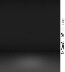 interieur, grijs, lege, schijnwerper, achtergrond