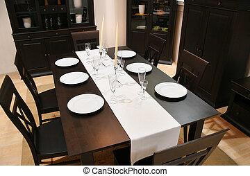 interieur, het dineren, 2, kamer