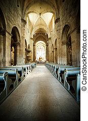 interieur, katholiek, romein, kerk