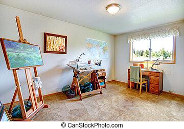 interieur, kunst, kamer