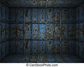 interieur, metaal, roestige , kamer