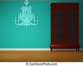 interieur, minimalist, kast