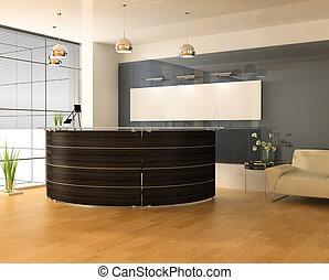 interieur, moderne, kantoor
