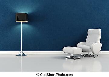 interieur, moderne, ontwerp, render, 3d