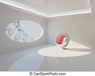 interieur, moderne, ontwerp