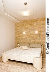 interieur, moderne, slaapkamer