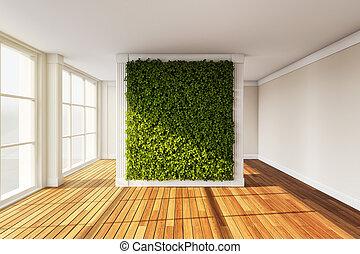 interieur, moderne, tuin, verticaal