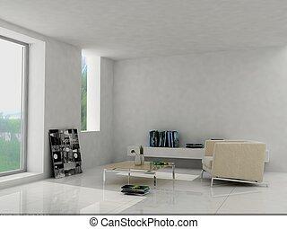 interieur, modieus, huiskamer
