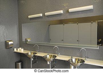 interieur, particulier, restroom