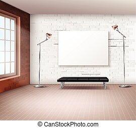 interieur, realistisch, zolder