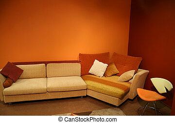 interieur, rood