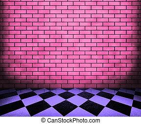 interieur, schaakbord, achtergrond, viooltje