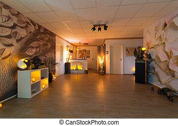 interieur, spa, studio, masseren