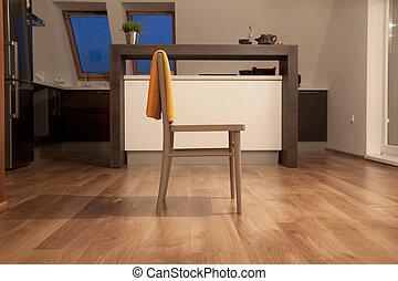 interieur, stoel, tijdgenoot, keuken