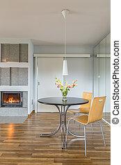 interieur, tafel, openhaard, thuis, thee