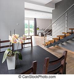 interieur, thuis, eettafel