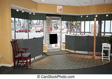 interieur, van, een, winkel