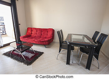 interieur, van, luxe, flat