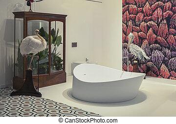 Interieur Natuur Badkamer : Natuurlijke badkamer baderie
